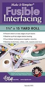 "Make It Simpler Fusible Interfacing: 1 1/2"" X 15 Yard Roll"