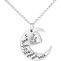 CAETLE Moon Love Pendant Necklace for Mother Women lady Girl