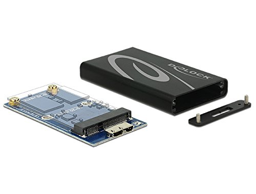 DeLOCK 42569 SSD Enclosure Negro, Gris Caja para Disco Duro Externo - Disco Duro en Red (Micro Serial ATA, 3.0 (3.1 Gen 1), Micro-USB B, Hembra, SSD Enclosure, Negro, Gris)