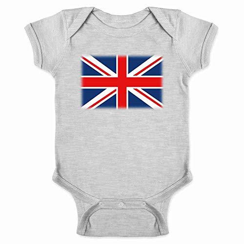 Union Jack Flag Gray 6M Infant Bodysuit]()