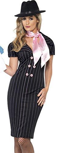 Smiffys Womens Sexy Mafia Gangster Pencil Dress Halloween Costume -