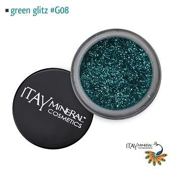 Itay Beauty Mineral Cosmetic Face and Body Glitter Color Green Glitz G08 by Itay Beauty