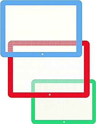 Set of 3 Silicone Baking Mats - Silicone Mat for Baking Sheets Nonstick - Half Quarter Sheet Silicone Baking Mats for Cookie Sheet Pans by Ouddy