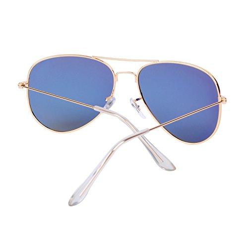 para Espejo QIXU Mujer Efecto Caso Lente Aviador UV400 Hombre con Gafas Polarizadas Sol y Amarillo el Antirreflejante de rH8xHvqX