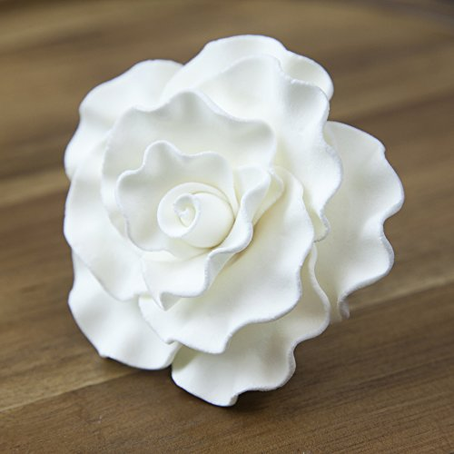 White Rose Sugar (Aussie Rose White, Large, 8 Count by Chef Alan Tetreault)