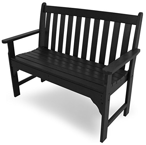 POLYWOOD GNB48BL Vineyard 48 Bench, Black