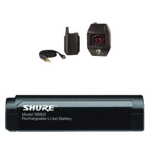 Price comparison product image Shure GLXD16 Digital Guitar Pedal Wireless System,  Z2With Shure SB902 Rechargeable Lithium-Ion Battery for GLX-D Bundle