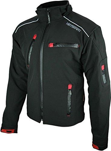 Heyberry Soft Shell Motorradjacke Textil Schwarz Gr. L