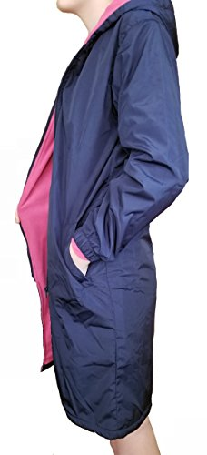 Homester Swim Team Parka Jacket Kids Youth (Blue/Pink, 10) (Fleece Parka)