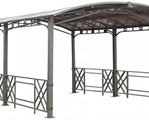 Pergola Design rectangular con tejado rígida: Amazon.es: Jardín