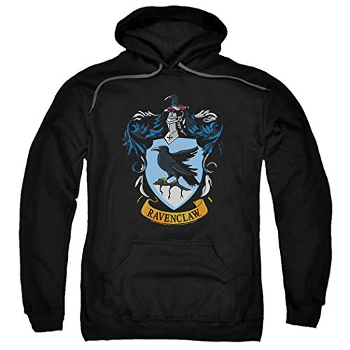 Popfunk Harry Potter Ravenclaw Logo Pull-Over Hoodie Sweatshirt & Stickers (X-Large) (Harry Potter Wand Tee)