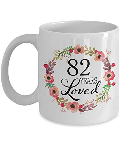 82nd Birthday Gifts for Women - Gift for 82 Year Old Female - 82 Years Loved Since 1937 - White Coffee Mug for Wife Mom Nana Grandma Her (Gift Ideas For 82 Year Old Woman)
