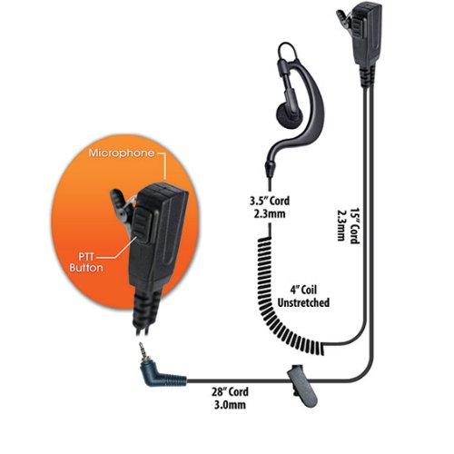 Klein BodyGuard Split-Wire Earpiece Motorola Team Sprint Direct Connect Kyocera DuraPlus/DuraXT Series Samsung Convoy Casio Ozone Phones