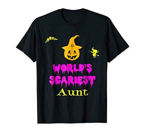 World's Scariest Aunt Halloween Costume T-Shirt -