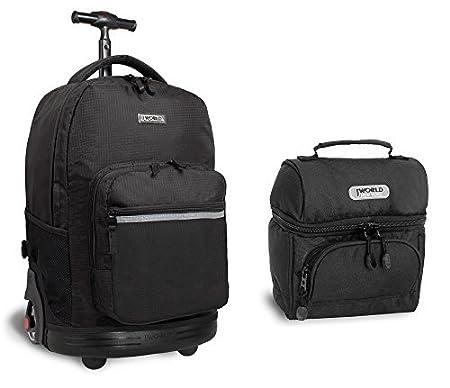 Amazon.com: J World Combo Rolling Backpack & Lunch Bag Back to School Bundle Set Sunrise / Corey, Lemon