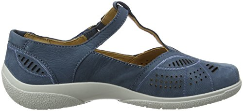 Hotter Damen Grace EEE Mary Jane Halbschuhe Blue (Blue River)