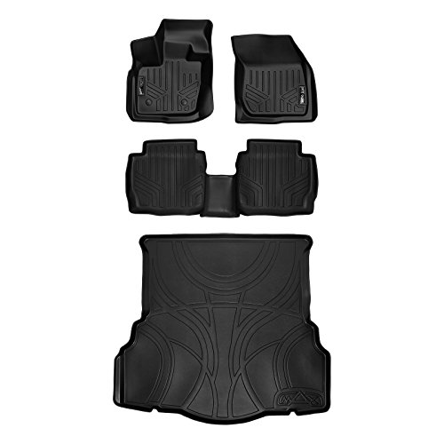 MAX LINER A0260/B0133/D0133 Custom Fit Floor Mats 2 Rows and Cargo Liner Set Black for 2017-2019 Ford Fusion No Hybrid or Plug-in Models