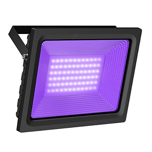 UV Black Light, Gianor 80W UV LED Flood Light Bulb Outdoor, IP66 Waterproof Disco Blacklights for Fishing/Aquarium/Curing, Body Paint, Fluorescent Poster, Neon Glow, Stage Lighting]()
