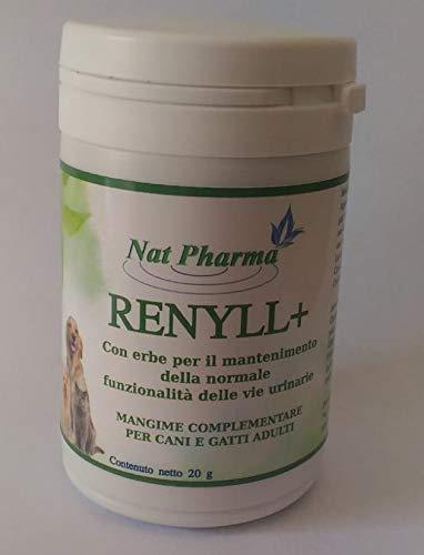 RENYLL 20 GR - Cura e impide los cálculos y la grava en perros y gatos - Desinfectante veterinario diurético y urinario ...