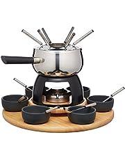 Artesà Luxe fondueset met draaitafel in geschenkdoos, roestvrij staal, 22-delige dinerpartyset