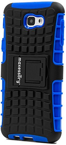 (Galaxy J5 Prime/Galaxy On5 2016 Case, Maxessory Blue Offroad Shock-Proof Rugged Dual-Layer Armor Rigid Ultra-Slim Kickstand Protective Hard Tough Hybrid Phone Cover Shell)
