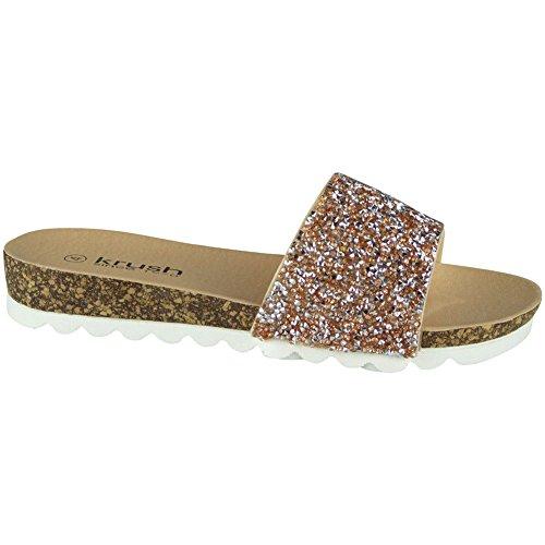 Or 41 LoudLook Chappal D'été Chaussures Ons Femmes Mode Taille Slip Sandales Dames Slip 36 on Flats wqTZwRpS