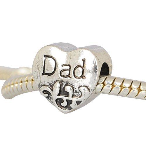 European Charm Metal Bead Dad