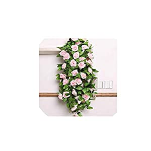 240CM/lot Roses Ivy Vine with Green Leaves for Home Wedding Decoration Fake Leaf Hanging Garland Artificial Flowers,01,France 13