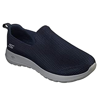 Skechers mens Go Walk Max-Athletic Air Mesh Slip on Walking Shoe,Navy/Gray,13 M US