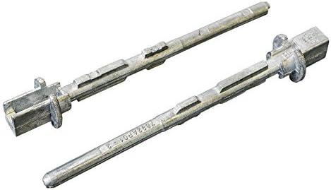 2 x Pernos metal lápiz para manija de puerta corredera: Amazon.es: Coche y moto