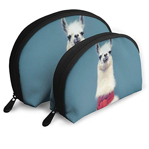Warm-Tone Mascot Big & Small 2 Pieces Pencil Bag Pen Case Multi-Purpose Storage Tools Canvas Bag Portable Travel Toiletry Pouch Cosmetic Makeup Bags with Zipper
