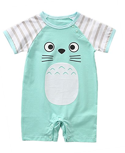 stylesilove Adorable Unisex Baby Totoro Short Sleeve Cotton Romper (90/18-24 Months, Green)
