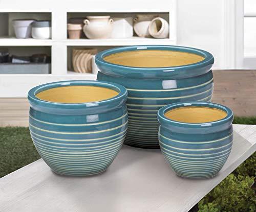 - Ocean Breeze Ceramic Planter Set (Ceramic)