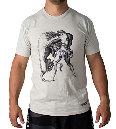 Conquer All | BJJ, Jiu Jitsu, MMA Unisex T-Shirt (Large) Sand