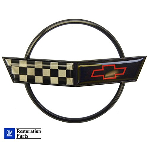 se Hood Emblem Cross Flag Official GM Restoration Part Fits: 91 through 96 Corvettes ()