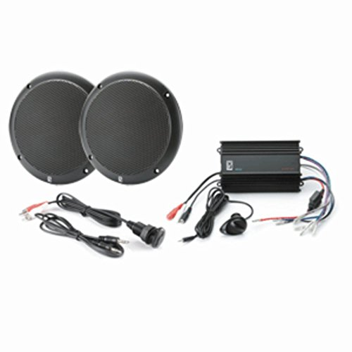 Poly-Planar MP3-KIT4-B Marine Amplifier W/Black Speakers & MP3 Adapter Consumer Electronics