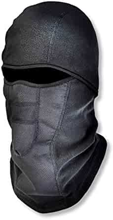 Ergodyne N-Ferno 6823 Winter Ski Mask Balaclava, Wind-Resistant Face Mask, Thermal Fleece, Black