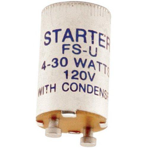Norman Lamps FS-U Universal Flurescent Starter, 4W-30W, 120 Volts (Pack of - Starter Flourescent