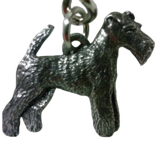 Terrier Wire - Wire Fox Terrier George Harris Pewter Keychain