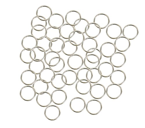 Rockin Beads 400 Jump Rings Silver-plated Brass 12mm Round Approx 16 Gauge. 9.6mm Inside Jewelry Connectors Chain Links