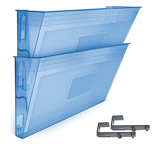 Acrimet Wall-mounted Modular File Holder (2 - Pack) (Clear Blue Color) by Acrimet