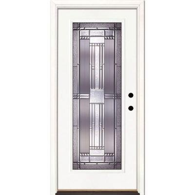 Feather River Doors Preston Patina Full Lite Primed Smooth
