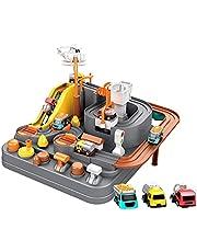 Race Tracks voor jongens auto avontuur speelgoed voor 3-8 jaar oude meisjes, stad redding race tracks kleuterschool educatief speelgoed voertuig puzzel auto track speelsets speelgoed voor peuters kinderen geschenken