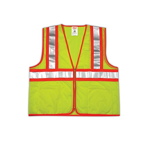 Tingley Rubber V70642 Class 2 Mesh Safety Vest, XX-Large/3X-Large, Lime Green ()