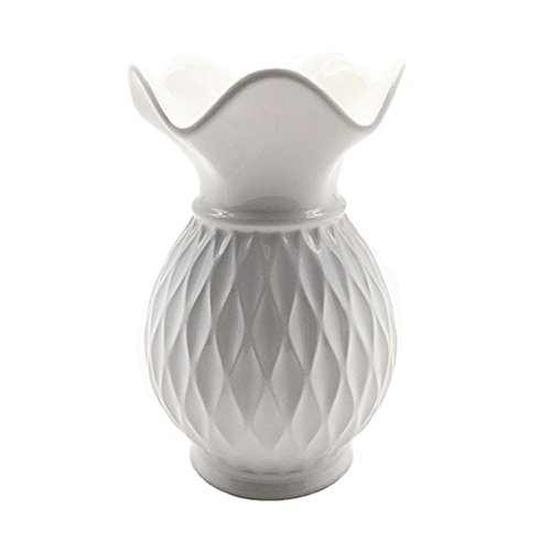 Anding Ceramic Decorative Vase (White)5.9'' by General
