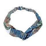 NIKOLay Leaf Print Stretch Headband Soft Lightweight Breathable Travel Perfect Use Hair Band,Green