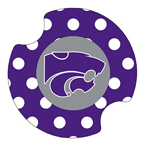 Thirstystone Kansas State University Dots Car Cup Holder Coaster, 2-Pack