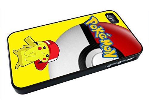 DCD - Pokemon Pikachu Custom Case for Iphone 4 4s 5 5c 6 6plus (iPhone 4/4s Black)