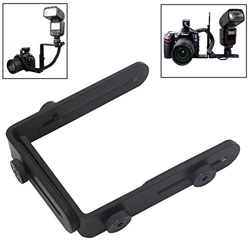- RAYSUN Camera Flash Mount Bracket - Dual L Shaped Bracket Holder Mount for Camera & Speedlite Flash