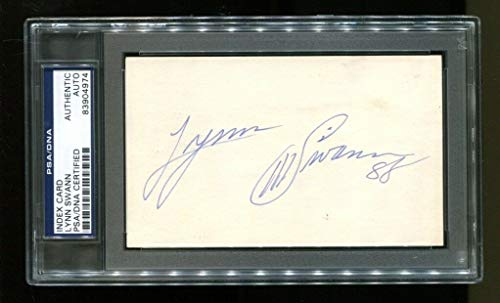 Lynn Swann Autographed Signed Memorabilia Index Card 3X5 Autographed Signed Memorabilia Steelers Usc - PSA/DNA Authentic